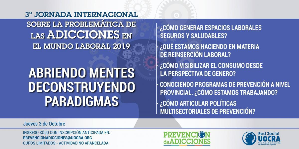 3RD INTERNATIONAL MEETING ON THE PROBLEM OF ADDICTIONS IN THE WORLD OF WORK 2019