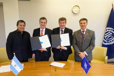 ARGENTINA SIGNED THE PROTOCOL TO THE INTERNATIONAL LABOUR ORGANIZATION CONVENTION 29 THAT CONDEMNS FORCED LABOUR