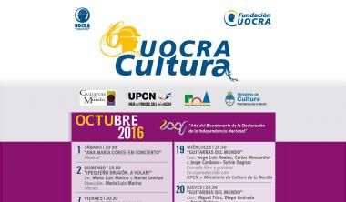 IN OCTOBER, UOCRA CULTURE RENEWS ITS ENTERTAINMENT OFFER